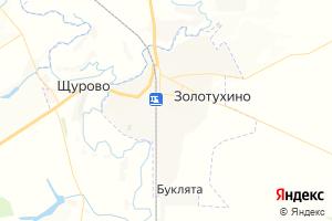 Карта пос. Золотухино Курская область