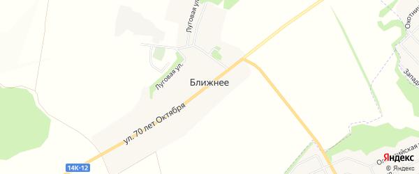 Карта Ближнего села в Белгородской области с улицами и номерами домов