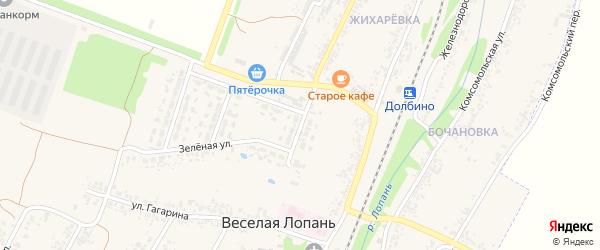 Школьная улица на карте села Веселой Лопани с номерами домов