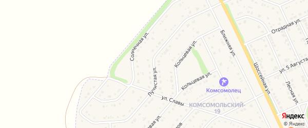 Лучистая улица на карте Комсомольского поселка с номерами домов