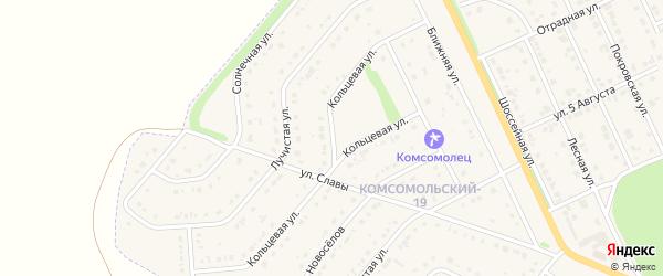 Кольцевая улица на карте Комсомольского поселка Белгородской области с номерами домов