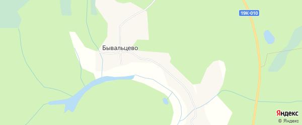 Карта деревни Бывальцево в Вологодской области с улицами и номерами домов