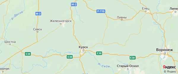 Карта Золотухинского района Курской области с городами и населенными пунктами