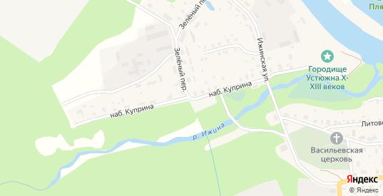 Улица Куприна в Устюжне с номерами домов на карте. Спутник и схема онлайн