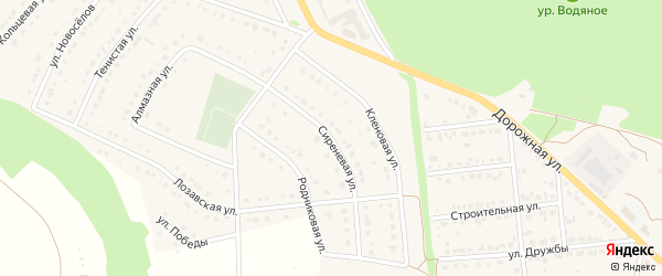 Сиреневая улица на карте Комсомольского поселка Белгородской области с номерами домов