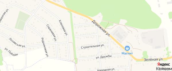 Рождественская улица на карте Комсомольского поселка Белгородской области с номерами домов
