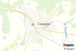 Карта пос. Сандово Тверская область