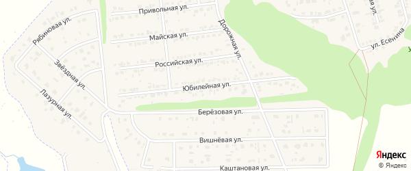 Юбилейная улица на карте Комсомольского поселка Белгородской области с номерами домов