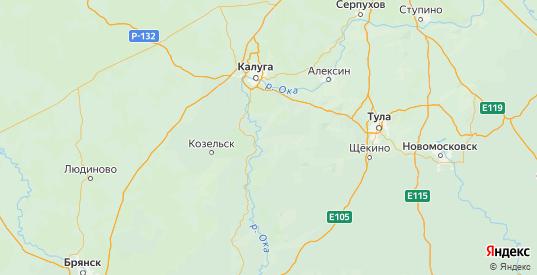Карта Суворовского района Тульской области с городами и населенными пунктами