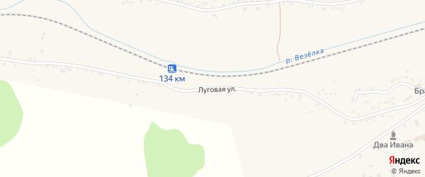Луговая улица на карте Пушкарного села с номерами домов