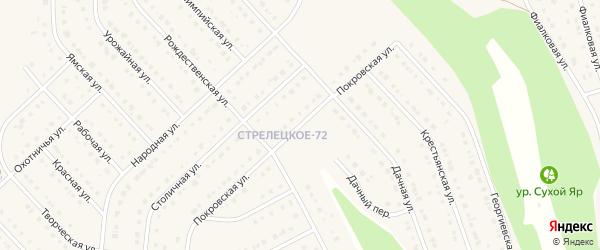Покровская улица на карте Стрелецкого села с номерами домов