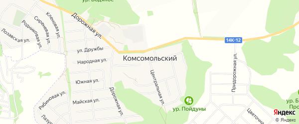Садовое товарищество Родник на карте Комсомольского поселка Белгородской области с номерами домов