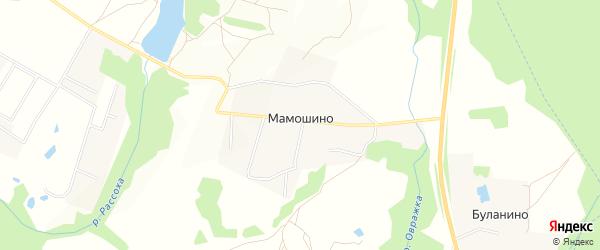 Территория СНТ Виктория на карте деревни Мамошино с номерами домов