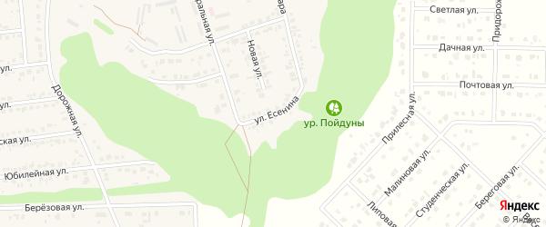 Улица Есенина на карте Комсомольского поселка Белгородской области с номерами домов