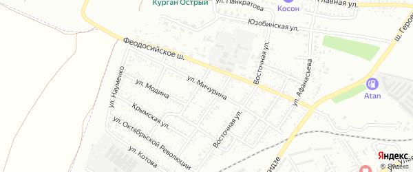 Улица Мичурина на карте Керчь с номерами домов