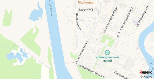 Мариинская улица в Вытегре с номерами домов на карте. Спутник и схема онлайн