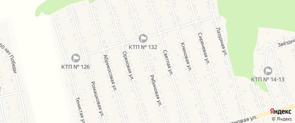 Рябиновая улица на карте Майского поселка Белгородской области с номерами домов