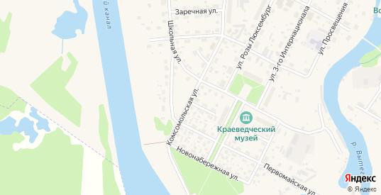 Комсомольская улица в Вытегре с номерами домов на карте. Спутник и схема онлайн