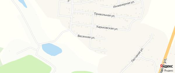 Весенняя улица на карте Майского поселка Белгородской области с номерами домов