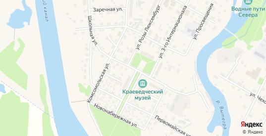 Школьная улица в Вытегре с номерами домов на карте. Спутник и схема онлайн