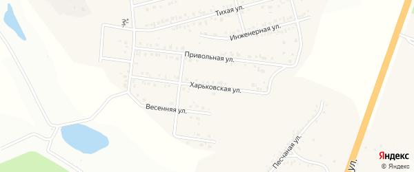 Харьковская улица на карте Майского поселка Белгородской области с номерами домов