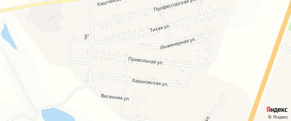 Привольная улица на карте Майского поселка Белгородской области с номерами домов