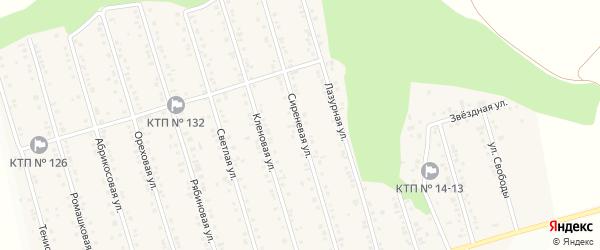 Сиреневая улица на карте Майского поселка Белгородской области с номерами домов