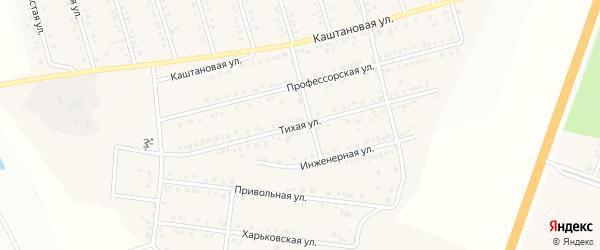 Тихая улица на карте Майского поселка Белгородской области с номерами домов