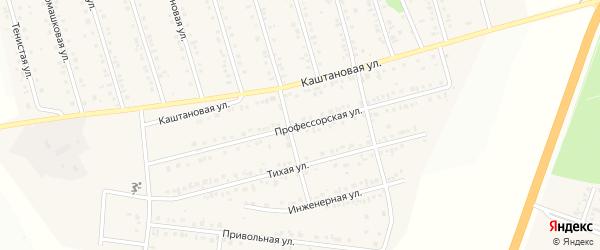 Профессорская улица на карте Майского поселка Белгородской области с номерами домов