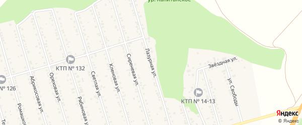 Лазурная улица на карте Майского поселка Белгородской области с номерами домов