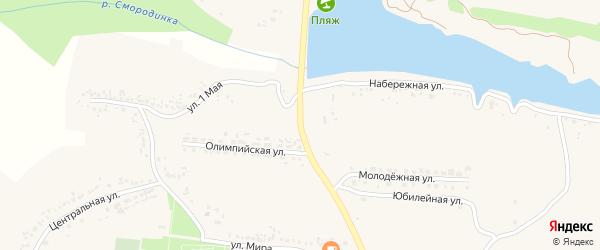 Олимпийский переулок на карте села Быковки с номерами домов