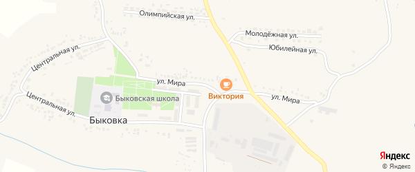 Улица Мира на карте села Быковки с номерами домов