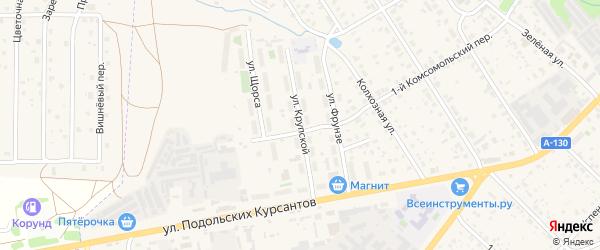 Улица Крупской на карте Малоярославца с номерами домов