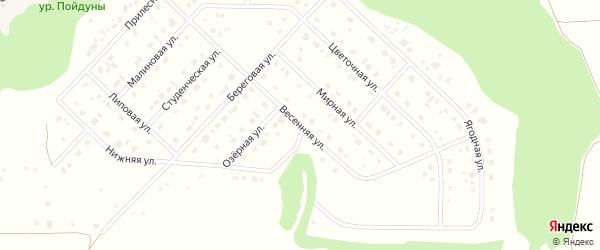 Весенняя улица на карте Комсомольского поселка Белгородской области с номерами домов