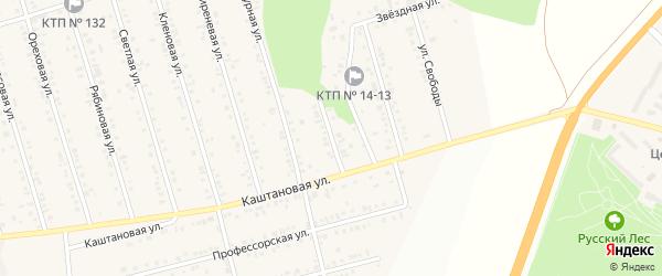Уютный переулок на карте Майского поселка Белгородской области с номерами домов