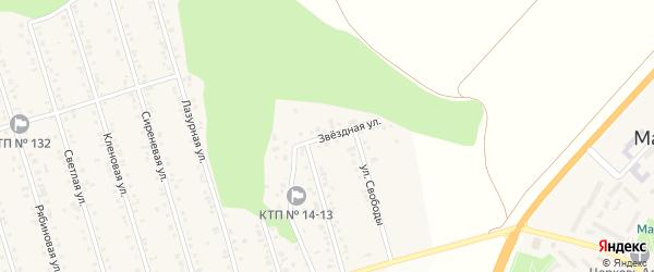 Звездная улица на карте Майского поселка Белгородской области с номерами домов