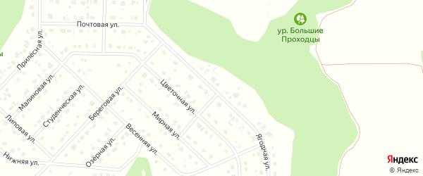 Ягодная улица на карте Комсомольского поселка Белгородской области с номерами домов