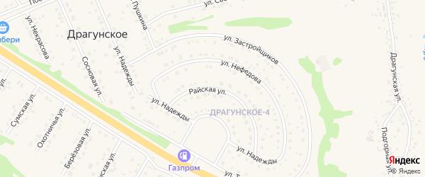 Райская улица на карте Драгунского села с номерами домов