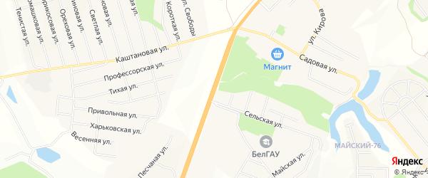 Территория 680 км автодороги М-2 Крым на карте Белгородского района Белгородской области с номерами домов