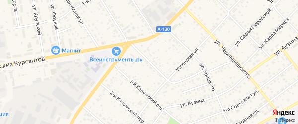 Октябрьская улица на карте Малоярославца с номерами домов