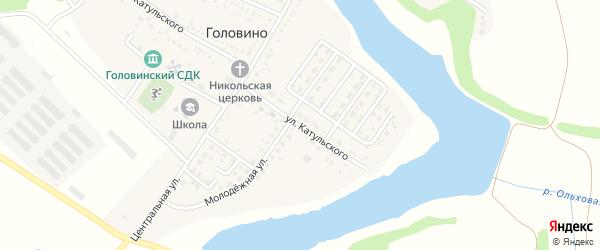 Улица Катульского на карте села Головино с номерами домов