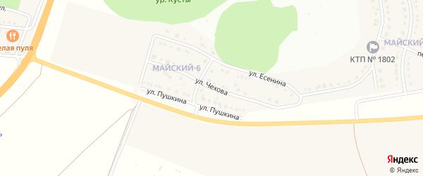 Улица Чехова на карте Майского поселка Белгородской области с номерами домов