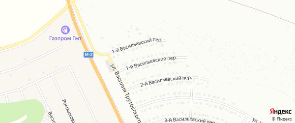 Васильевский 1-й переулок на карте Белгорода с номерами домов