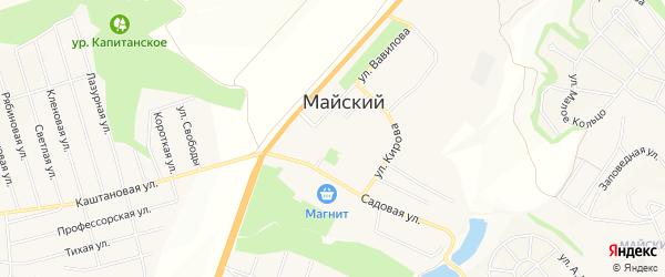 Карта Майского поселка в Белгородской области с улицами и номерами домов