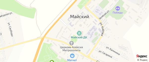 Сосновая улица на карте Майского поселка Белгородской области с номерами домов