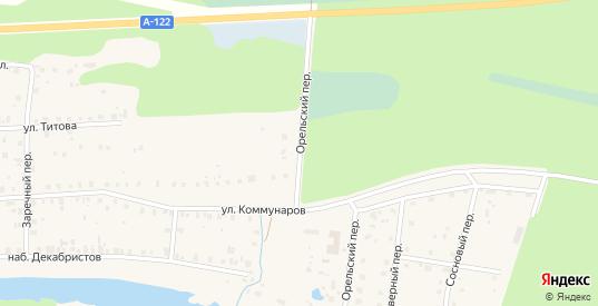 Орельский переулок в Устюжне с номерами домов на карте. Спутник и схема онлайн