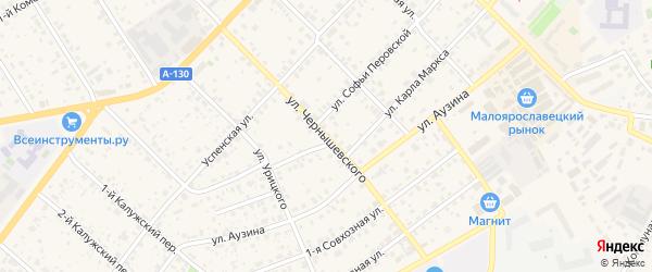 Улица Чернышевского на карте Малоярославца с номерами домов