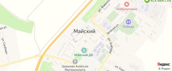 Улица Кирова на карте Майского поселка Белгородской области с номерами домов