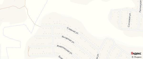 Славная улица на карте Стрелецкого села Белгородской области с номерами домов