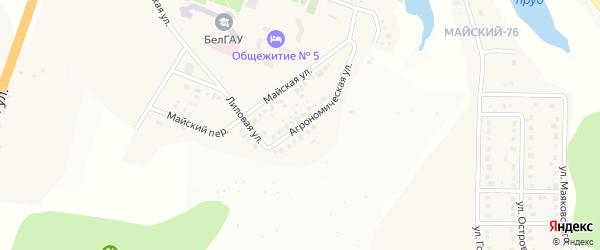 Агрономическая улица на карте Майского поселка Белгородской области с номерами домов